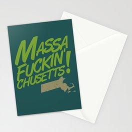 Massa-Fuckin'-Chusetts! (color) Stationery Cards
