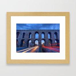 Racing The Aqueduct Framed Art Print