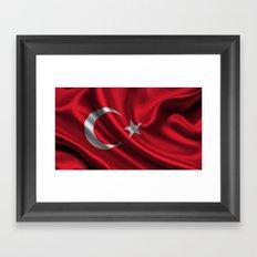 Turkish Flag (M.Kemal ATATURK) Framed Art Print
