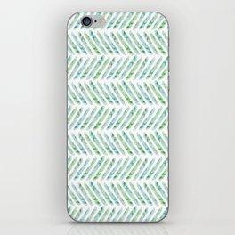 Aquamarine Herringbone iPhone Skin