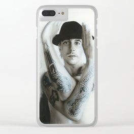 'Twisting & Turning Your Feelings are Burning' Clear iPhone Case