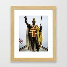 King Kamehameha Framed Art Print