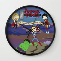 avenger Wall Clocks featuring Avenger Time! by Det Guiamoy