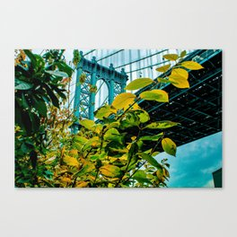Manhattan Bridge Meets Autumn Canvas Print