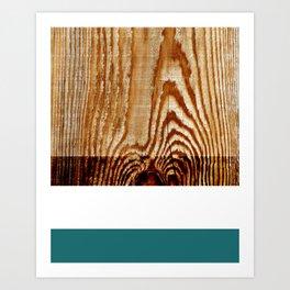 Wood Grain Print Art Print