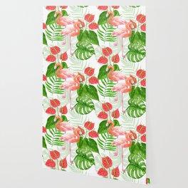 Flamingo garden Wallpaper