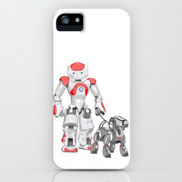 The Dog Walker. (Red) iPhone Case