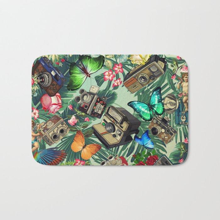 tropical vintage Bath Mat