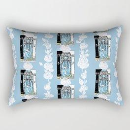 Floral Tarot Print - The High Priestess Rectangular Pillow