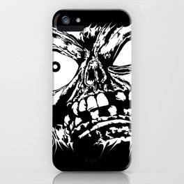 Flattened Monster Face iPhone Case