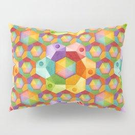 Rainbow Hexagons Pillow Sham