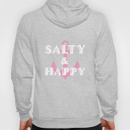 Salty and Happy Graphic Anchor Beach T-shirt Hoody