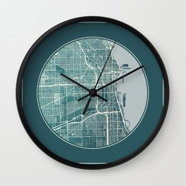 Chicago Map Planet Wall Clock