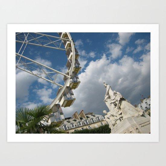 Jardin des Tuileries Art Print
