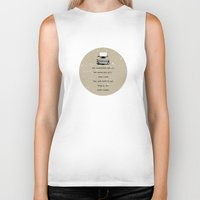typewriter Biker Tanks featuring Typewriter by Word Quirk