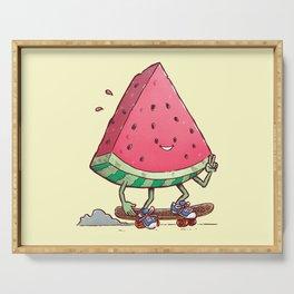 Watermelon Slice Skater Serving Tray
