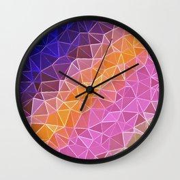 crystalized rainbow Wall Clock