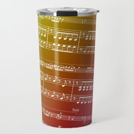 Double Bass Concerto Music on Red Travel Mug