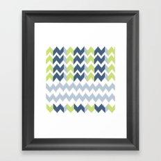 Modern Ikat Framed Art Print