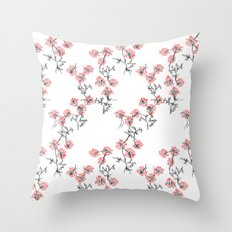 X Flowers Throw Pillow