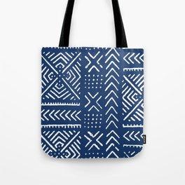 Line Mud Cloth // Dark Blue Tote Bag