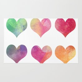 Hearts-colorful Rug