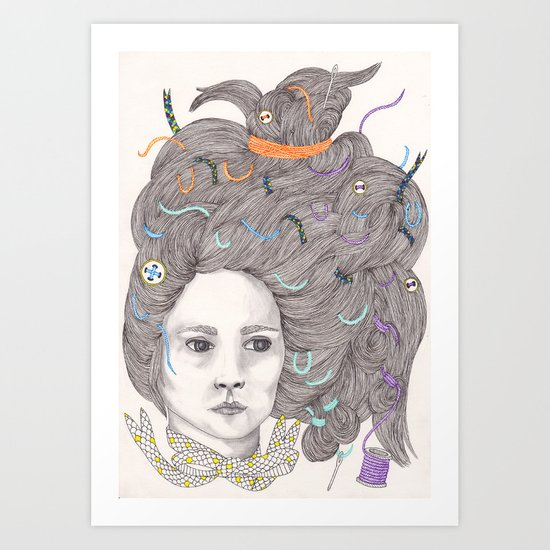 Bad Hair Day III Art Print