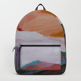 Roses Aren't Red 3 - Contemporary Abstract Landscape Backpack
