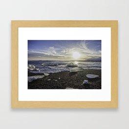 Jokulsarlon Lagoon Beach 06 Framed Art Print