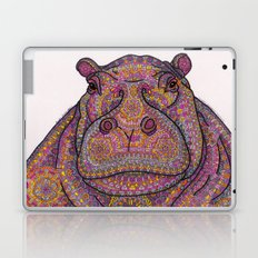 Hippie-Potamus (Pink) Laptop & iPad Skin