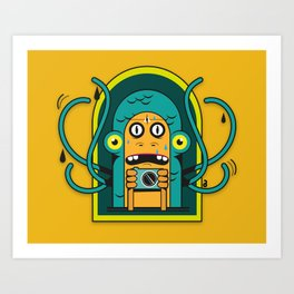 Danger at the moment of the click Art Print