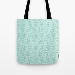 Rain Drops in Green Tote Bag