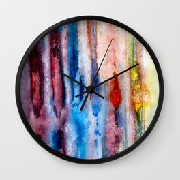 Antique Painted Lined Grunge Wall Clock