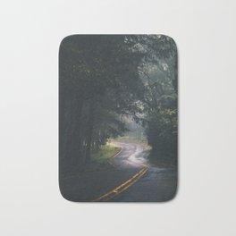 GREY - CONCRETE - ROAD - DAYLIGHT - JUNGLE - NATURE - PHOTOGRAPHY Bath Mat