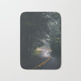 GREY - CONCRETE - ROAD - DAYLIGHT - JUNGLE - NATURE - PHOTOGRAPHY Bath Mat