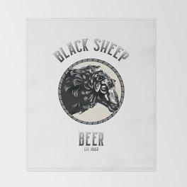 Black Sheep Beer Throw Blanket