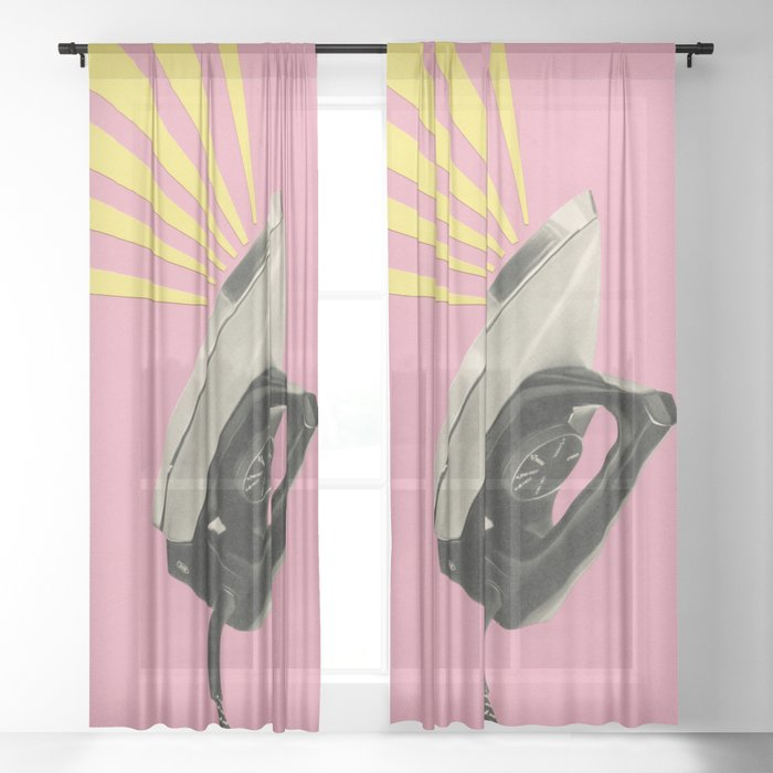 The Art of Ironing Sheer Curtain