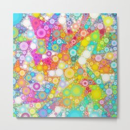 Sunny Bubbles on the Water Metal Print