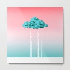 Concrete Cloud Metal Print
