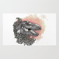 dinosaur Area & Throw Rugs featuring Dinosaur by Gemma Goode