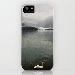 Swans enjoying Hallstatt iPhone Case