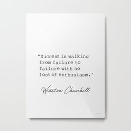 Winston Churchill awesome quotes Metal Print