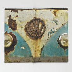 VW Rusty Throw Blanket