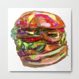 Hamburger Rainbow Metal Print