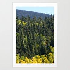 Many Shades Of Trees Art Print