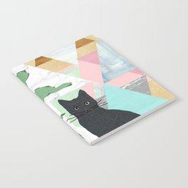Black Cat Collage Notebook