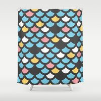 scales Shower Curtains featuring Scales by SKUDIAdesigns