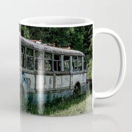 Abandoned Bus Broken and Abused Rusty Car Coffee Mug