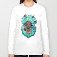 mint Long Sleeve T-shirts featuring Mint by Natasja van Gestel
