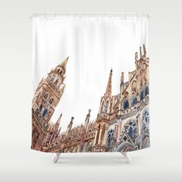 New Town Hall in Munich Shower Curtain